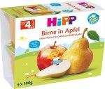 HIPP BIO Mus owocowy Jabłko Gruszka 4x100g 4m