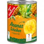 GG Ananas we własnym soku plastry 820g b/cukru