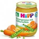 Hipp Bio Warzywa z Masłem i Batatami 6m 190g