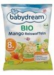 BabyDream Bio Wafelki Ryżowe z Mango 8m 40g