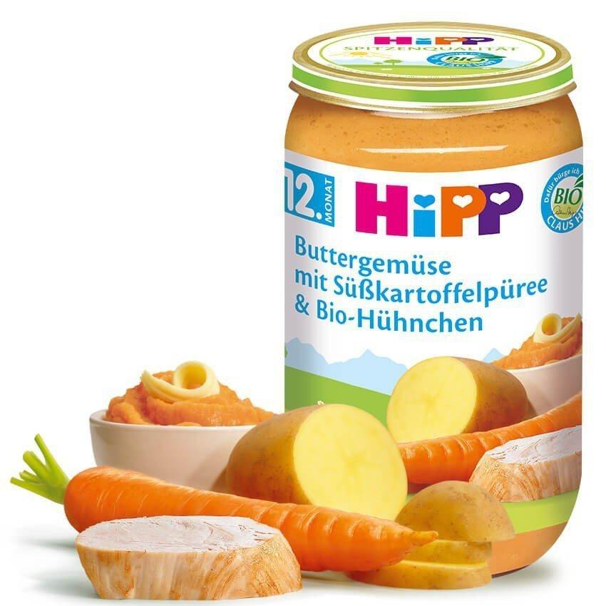 Hipp Bio Obiad Maslane Warzywa Bataty Kurczak 12m 250g Obiadki
