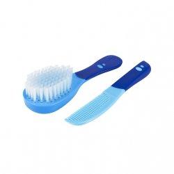 Difrax Szczoteczka + Grzebyk Miękkie włosie 0+ Niebieska