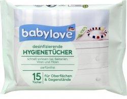 Babylove Chusteczki do czyszczenia smoczków gryzaków 15 szt