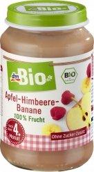 Bio Pierwsze owoce Maliny Banany Jabłko 4m 190g