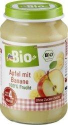 Bio Pierwsze 100% Owoce Jabłko Banan 4m 190g