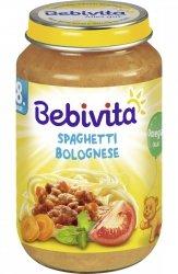 Bebivita Spaghetti Bolognese Wołowina 8m 220g