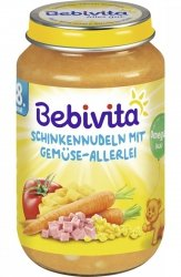 Bebivita Makaron Szynka Kukurydza Pomidor 8m 220g