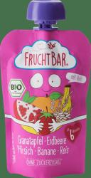 FruchtBar Bio Granat Truskawki Brzoskwinie Banan Ryż