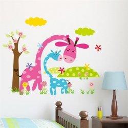m-din Naklejki na ściane Ścienne Żyrafki 45x36cm