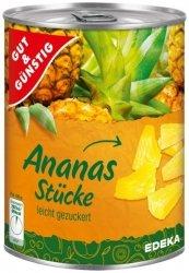 GG Ananas w lekkim syropie w kostce 565g