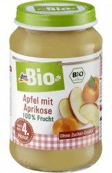 BIO Deserek 100% Owocowy Jabłko Morela 4m 190g