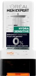 LOREAL MEN EXPERT Hydra Sensitive Żel Prysznic Wegan