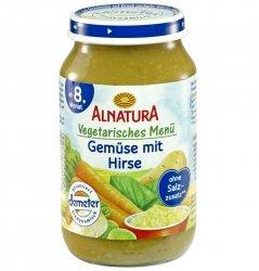 Alnatura Demeter Warzywa kaszka Jaglana 8m 220g