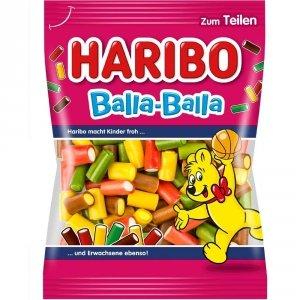 Haribo Balla Balla żelki owocowe kolorowe rurki z pianką 175g
