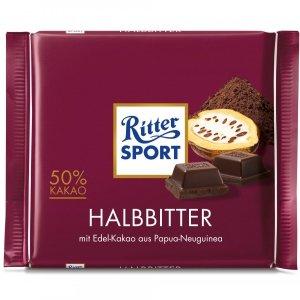 Ritter Sport Halbitter 50% Gorzka Czekolada 100g