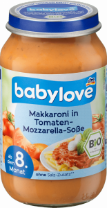 Babylove Bio Makaron Sos Pomidory Mozzarella 8m 220g