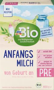 Bio PRE Ekologiczne Początkowe mleko od urodzenia 600g