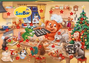SauBar Kalendarz Adwentowy z Kosmetykami dla dziecka