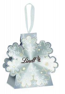 Lindt Glamour Wigilijne Dekorację z Pralinek Śnieżynka 15g