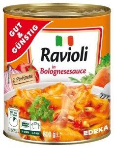Włoskie Ravioli w sosie Bolognese z wieprzowiną 800