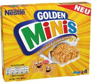 Nestle Golden Minis Maślane Zbożowe Batony 4sz DE