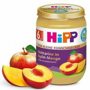 HIPP BIO Deser Nektarynka Jabłko Mango 190g 6m