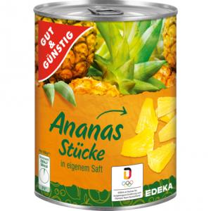 GG Ananas we własnym soku kawałki 565g