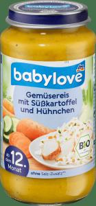 Babylove Bio Warzywa Ryż Bataty Kurczak 12m 250g