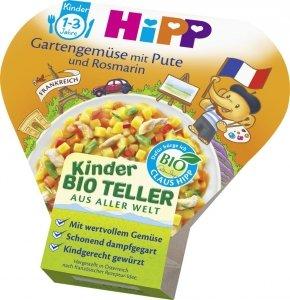 Hipp Bio na tacce Ogrodowe Warzywa z Indykiem Rozmaryn