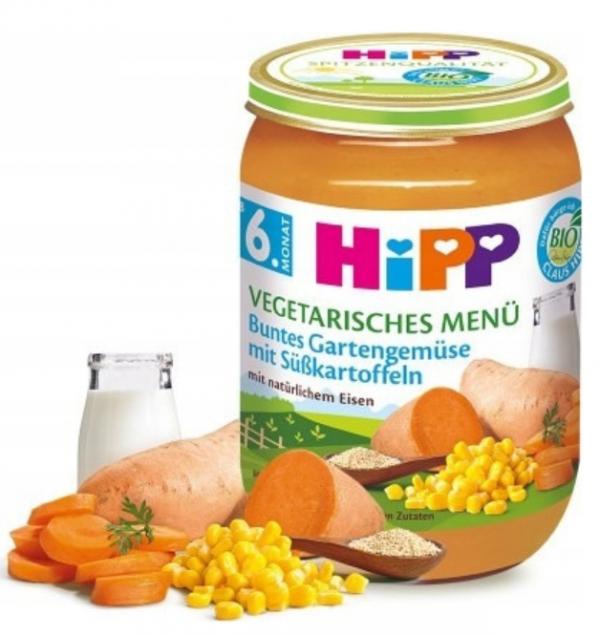 hipp-bio-warzywa-bataty-amarantus-6m-190g-słoiczek-wegetariańskie