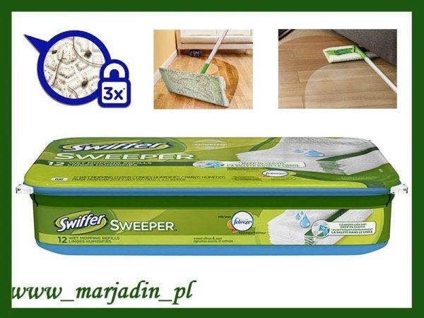 Swiffer Ściereczki do mycia podłogi cytynowe 12 sz