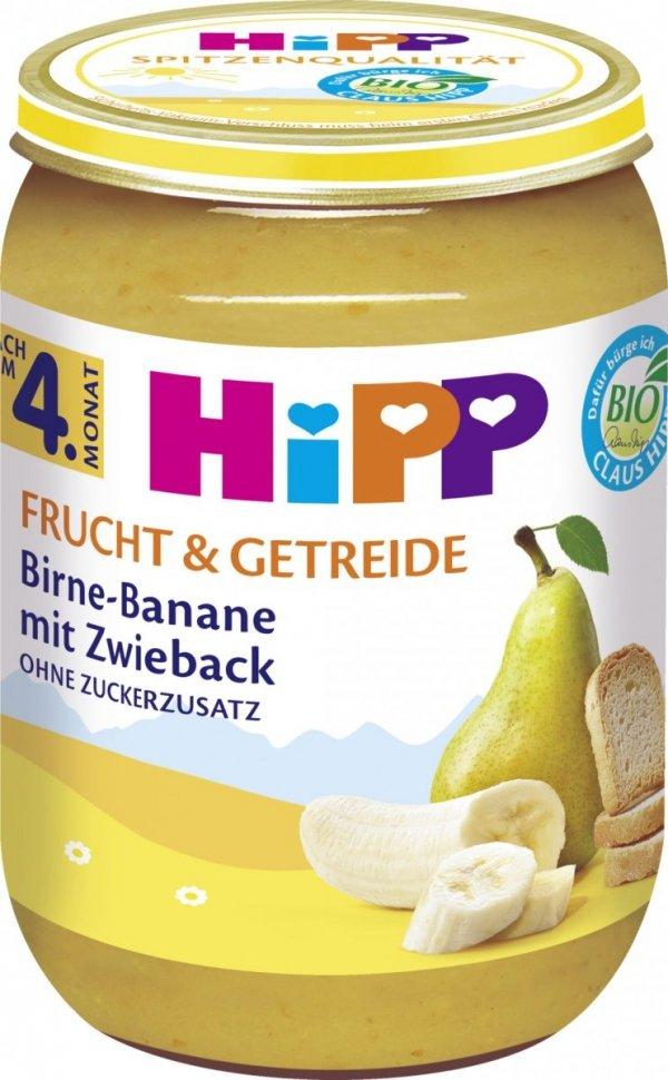 Hipp Bio Deser Gruszka Banan Sucharki 4m 190g
