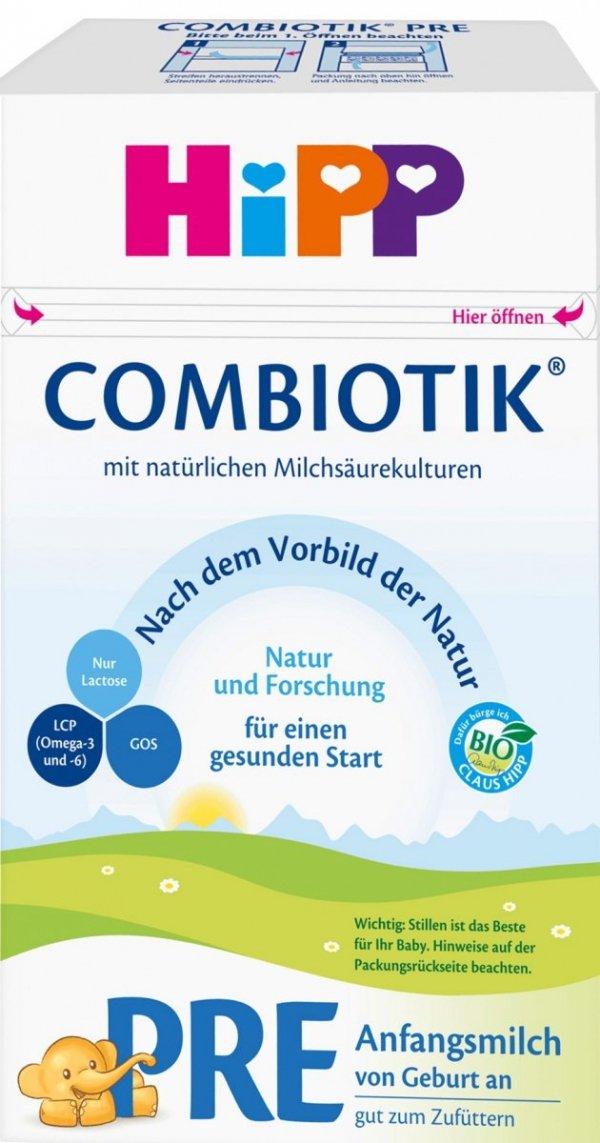 hipp-bio-pre-combiotik-600g-mleko-początkowe-dziecka