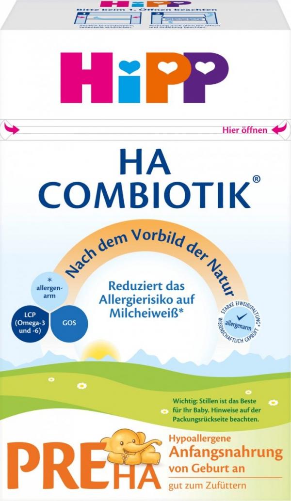 hipp-pre-ha-combiotik-500g-mleko-początkowe-od-urodzenia-niemieckie