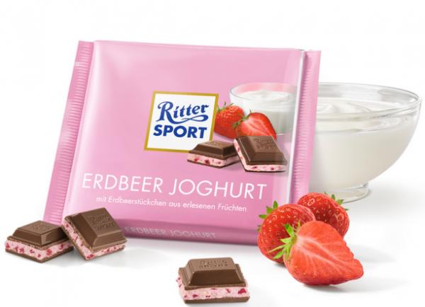 Ritter Sport Erdbeeren Jogurt Czekolada Truskawka 100