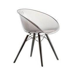 Gliss 905 Krzesło Pedrali Transparentne jesionowe nogi barwione na czarno