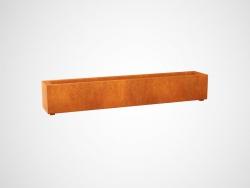 Donica metalowa - Corten LARGO 3 1800x300x300