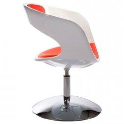 Fotel obrotowy Kirk Biało-Czerwony z tapicerowanym siedziskiem