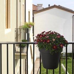BE-UP podwójna doniczka balkonowa PLUST rozmaryn