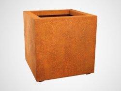 Donica metalowa - Corten CUBO 3 600x600x600