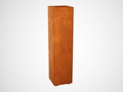 Donica metalowa - Corten ALTO 2 300x300x1200
