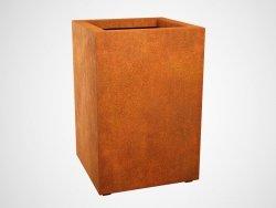 Donica metalowa - Corten ALTO 3 600x600x900