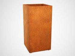 Donica metalowa - Corten ALTO 4 600x600x1200