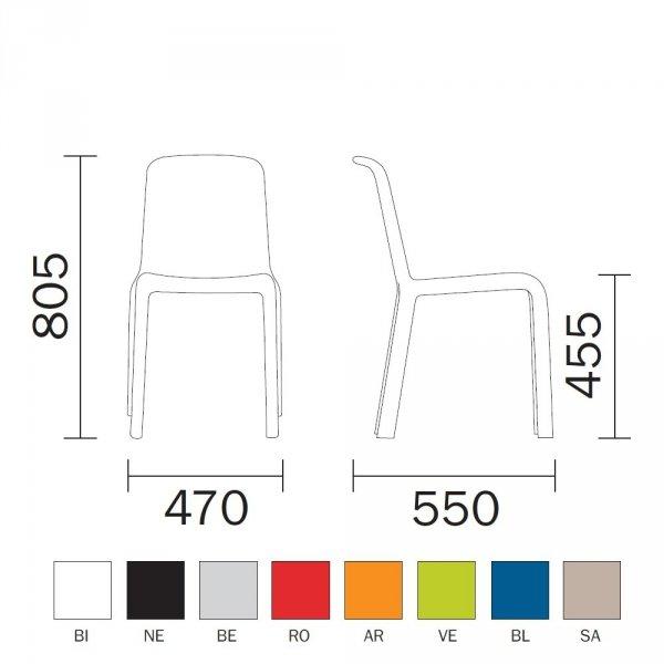 Wymiary i kolory Snow 300 marki Pedrali