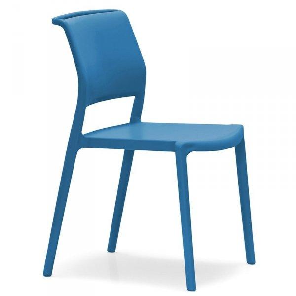 Piękne minimalistyczne krzesło ogrodowe Ara 310 Pedrali Niebieskie