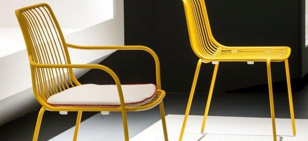 Metalowe krzesło zewnętrzne wysokie Nolita 3651 Pedrali