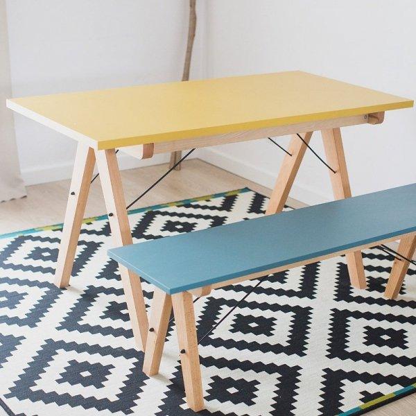 Stół Basic Minko jest dostępny w wieku pięknych kolorach