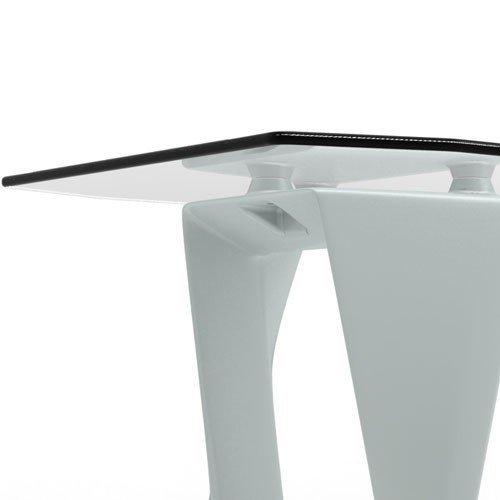 Iso Stół ze szklanym blatem 15mm