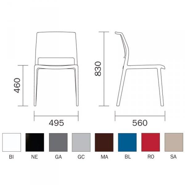 Nowoczesne krzesło Ara 310 wymiary i kolory