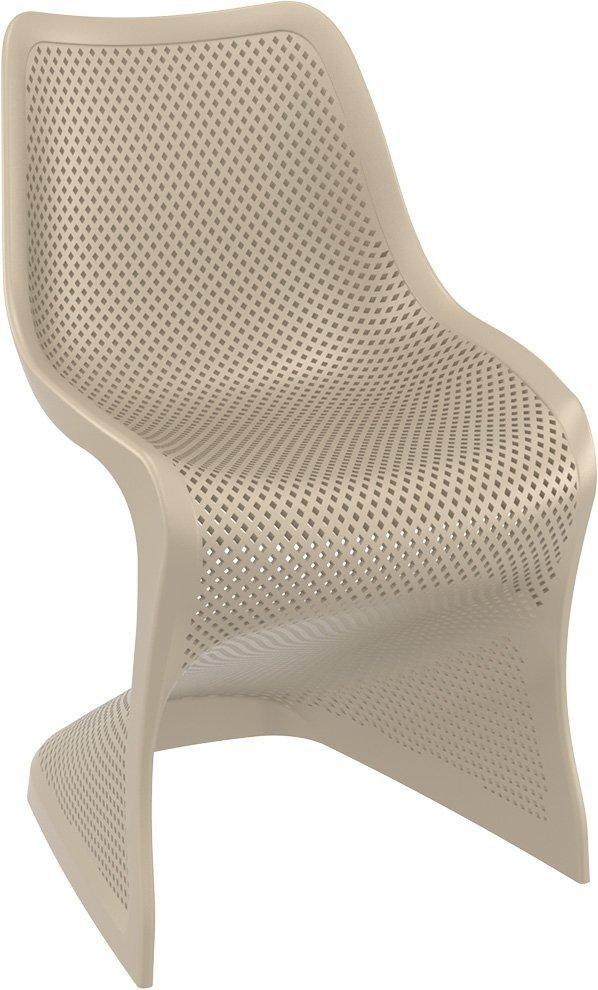 Krzesło Bloom Siesta z tworzywa taupe